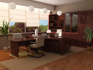modern interior of a cabinet