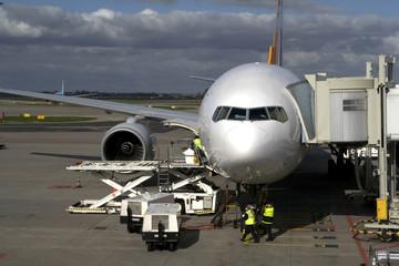 airplane at gate