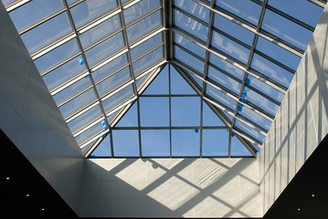 glass and metal roof