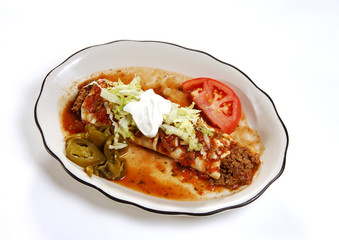 mexican food beef burrito