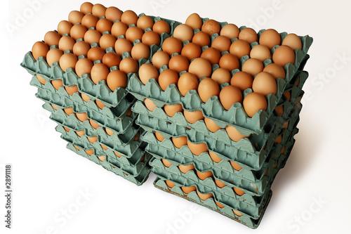 Huevos en bandejas de carton 2 fotos de archivo e for Bandejas para huevos