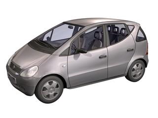 auto moderne 3d grise fond blanc