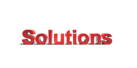 solutions schriftzug