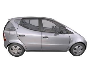 automobile 3d grise fond blanc