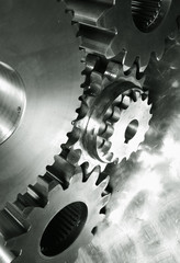 industrial gears connecting