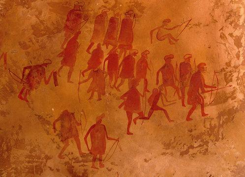 ancient petroglyphs, libya