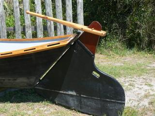rudder of boat