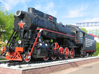 black steam locomotive