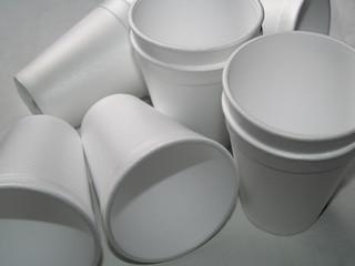 disposable foam cups - non biodegradable