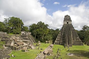 jaguar pyramid and ruins