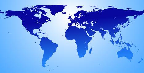 map of the world  (illustration)