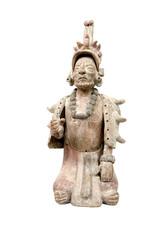 isolated mayan terracotta