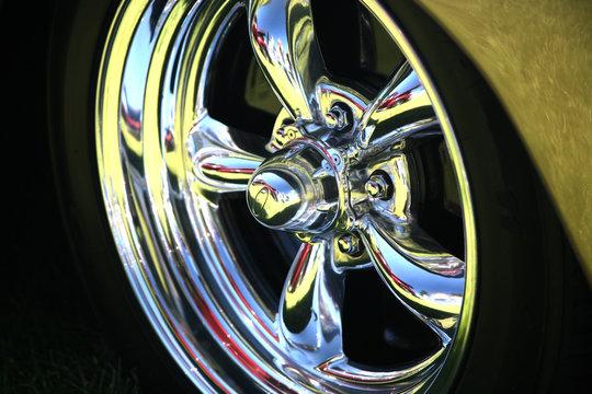 polished chrome wheel