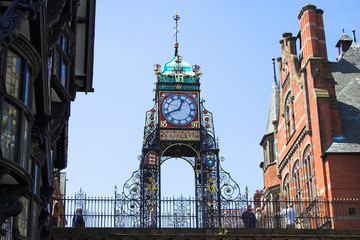 Fototapeta eastgate clock, chester, england, uk obraz