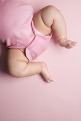 babys chubby legs.