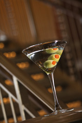 Martini with olives.
