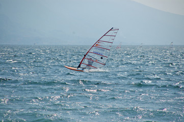 lake garda windsurfer