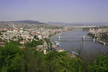 budapest - panorama sul danubio e palazzo reale