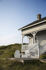 Coastal house on Bald Head Island, North Carolina.