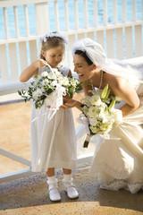 Bride and flowergirl.