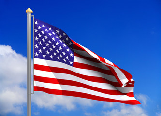 usa  flag (include clipping path)