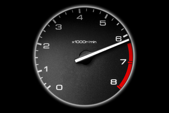 tachometer of the car