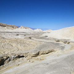 Barren landscape in Death Valley.