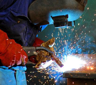 industrial steel welding