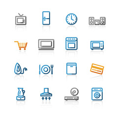 contour household e-shop icons