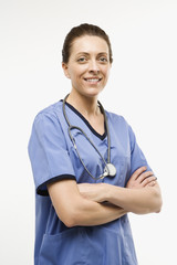 caucasian woman doctor.