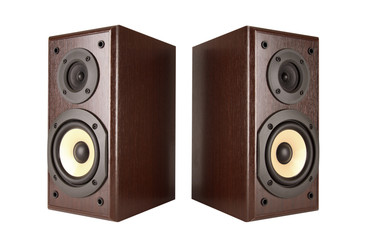 speakers isolated with path