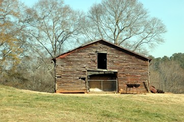 old rustic barn shed