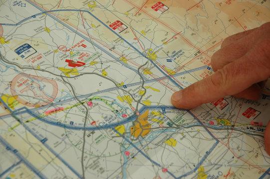 carte et plan de vol
