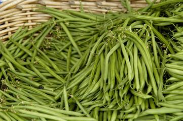 haricots verts à la vente