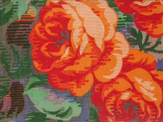 pattern fabric roses