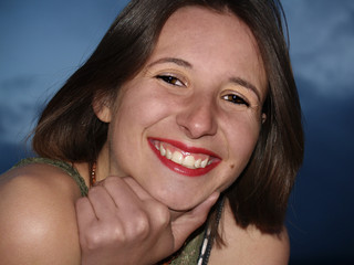 young woman with a big smile