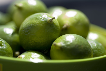 close up of key limes
