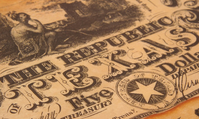 republic of texas currency