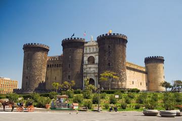 Foto auf AluDibond Neapel castel nuovo