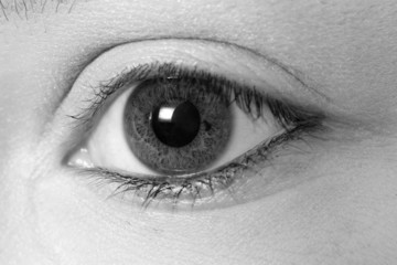 black & white eye