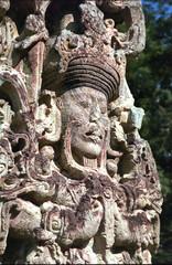 mayan statue - honduras