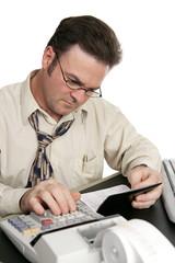 balancing checkbook with calculator