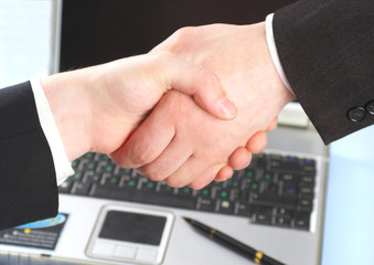 hand shake of two people.