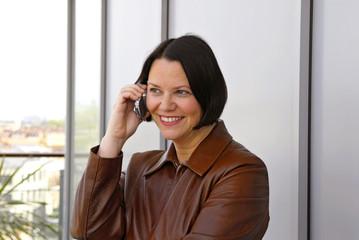 woman talking on mobile