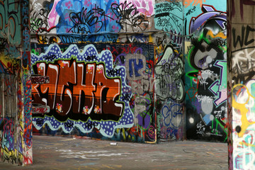 wall of graffiti