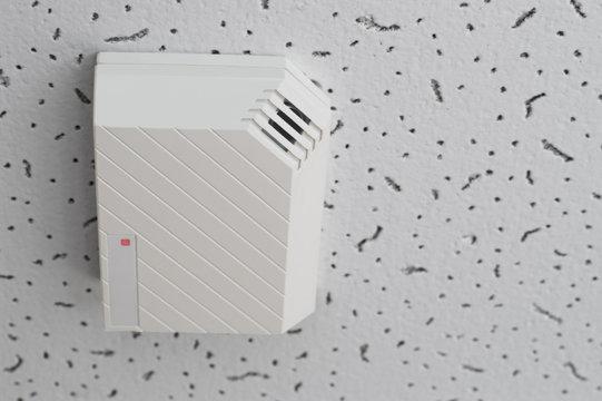 sensor of broken window on ceiling