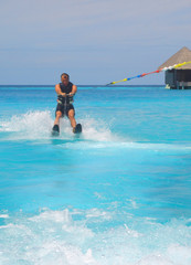 water skiing in the maldives