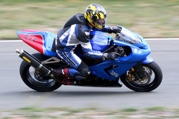 Poster Motorise motorbike race