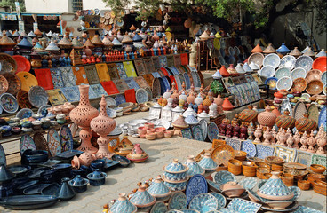 Canvas Prints Tunisia tunisie - tourist market