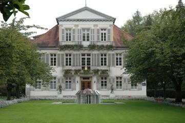 rathaus  und Gartenanlage in Lahr, Baden Deutschland